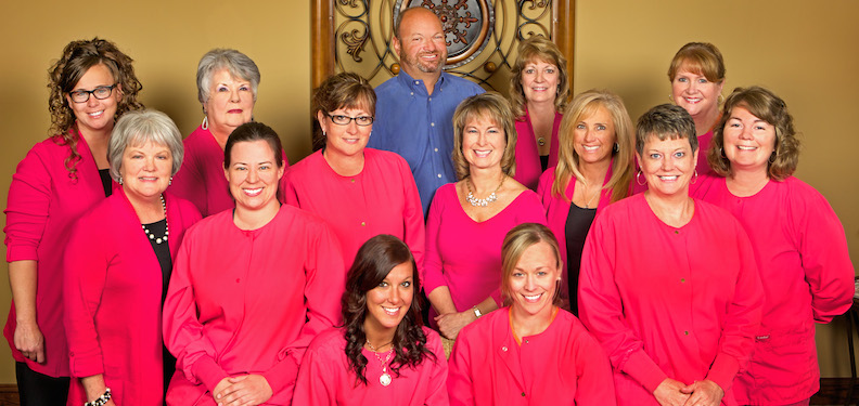 The smiling team at Randolph Center for Dental Excellence